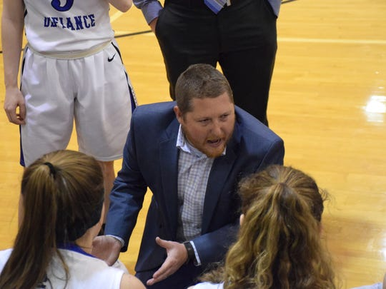 Patrick Hartley, Fort Defiance's girls basketball coach,