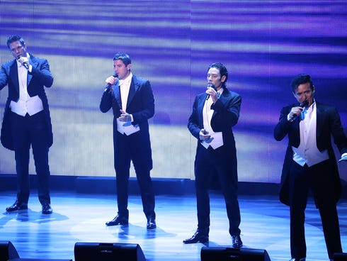 IL DIVO  performs 'IL DIVO - A Musical Affair' on Broadway at Marquis Theatre on Nov. 7, 2013, in New York.