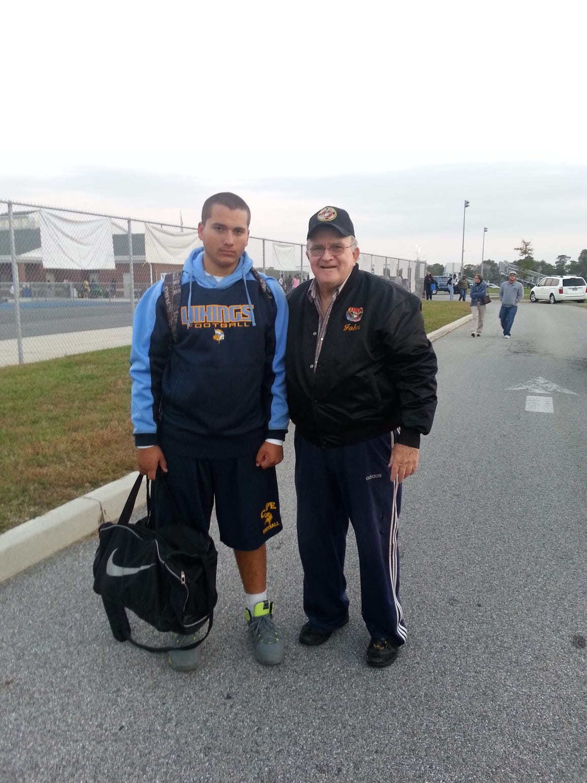 Julian Medina with his grandfather, John Macki.