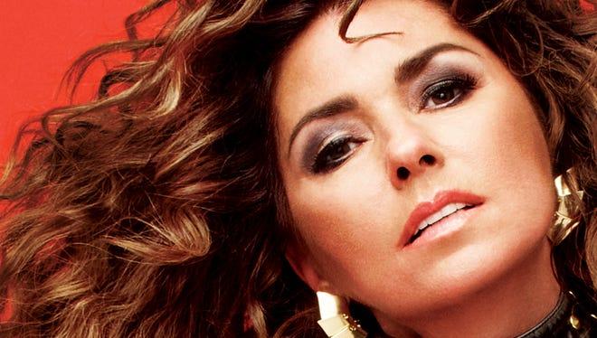 Country music star Shania Twain
