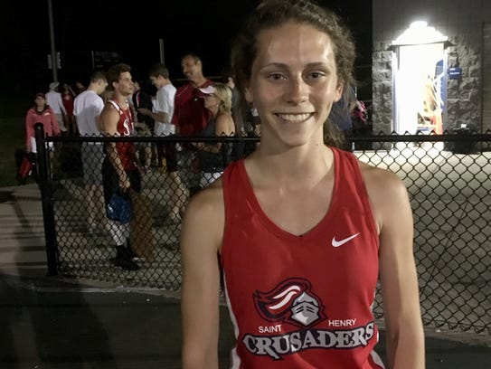 St. Henry junior Natalie Pope won four events in the