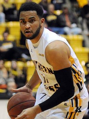 University of Southern Mississippi's Rasham Suarez (11)