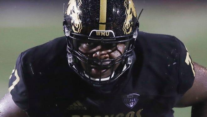 Western Michigan offensive tackle Chukwuma Okorafor.