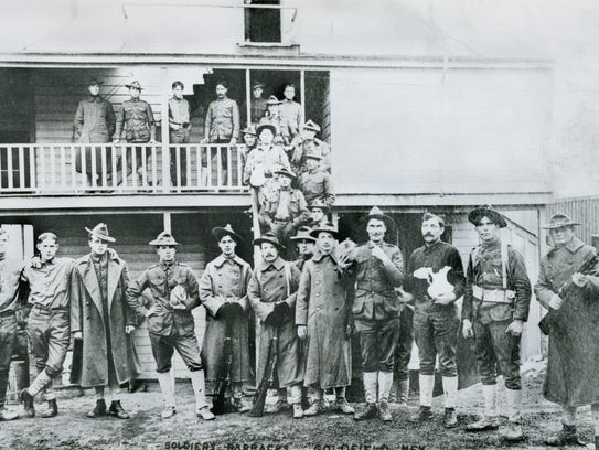 Federal troops during miners' strike, Goldfield, Nevada,