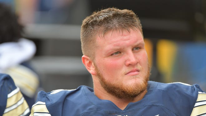 Former Riverheads player Mike Herndon has spent time on both sides of the ball for the University of Pittsburgh this season.