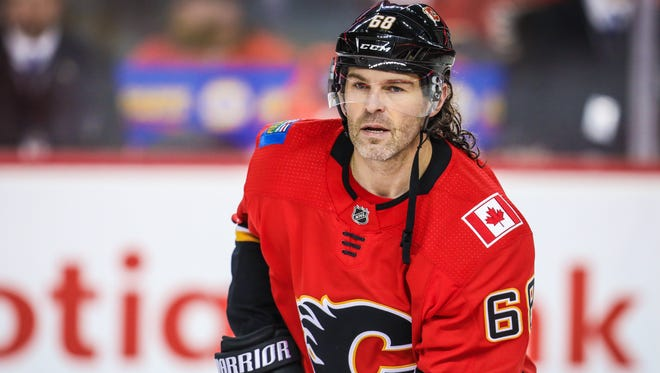 Jaromir Jagr appeared in just 22 games for the Flames.