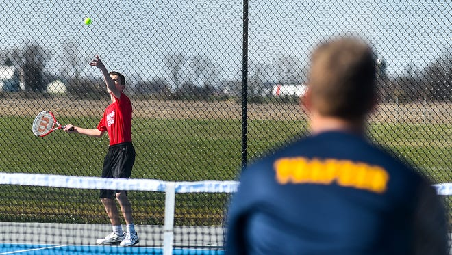 Pleasant and River Valley played in a boys tennis match earlier this year. At the Mid Ohio Athletic Conference Championships that completed this week, Buckeye Valley won the team title.