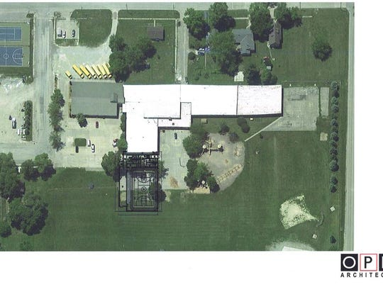 This is how the new gymnasium and other facilities are slated to look when added on to Iowa Valley Elementary School.