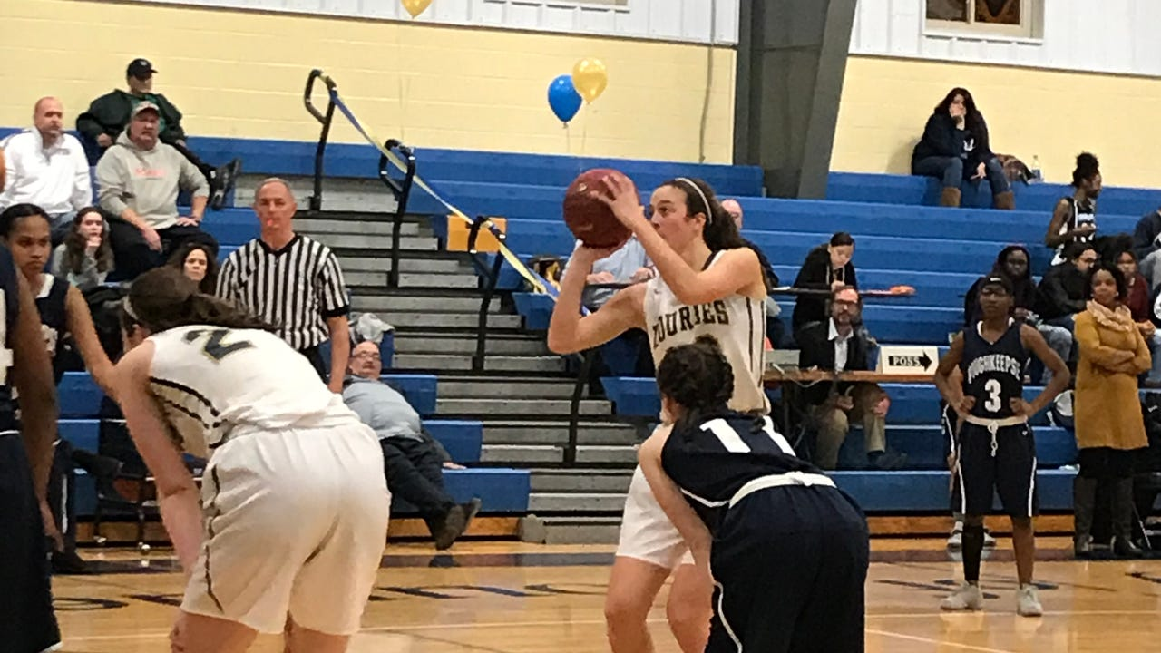 The Our Lady of Lourdes High School girls basketball team beat visiting Poughkeepsie 104-30 on Friday.