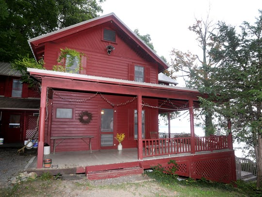 This seasonal cottage sits along the west side of Canandaigua