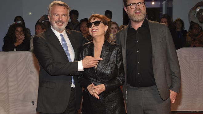 "Sam Neill, from left, Susan Sarandon and Rainn Wilson attend the premiere for ""Blackbird"" on day two of the Toronto International Film Festival last September in Toronto."