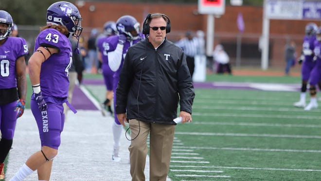 Tarleton State University head football coach Todd Whitten, pictured on the sideline during a game last season.