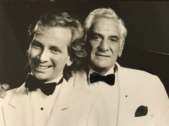 John Bayless and composer Leonard Bernstein.