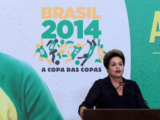 dilma rousseff world cup brazil