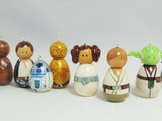 Inspired by the characters of Star Wars, these wooden