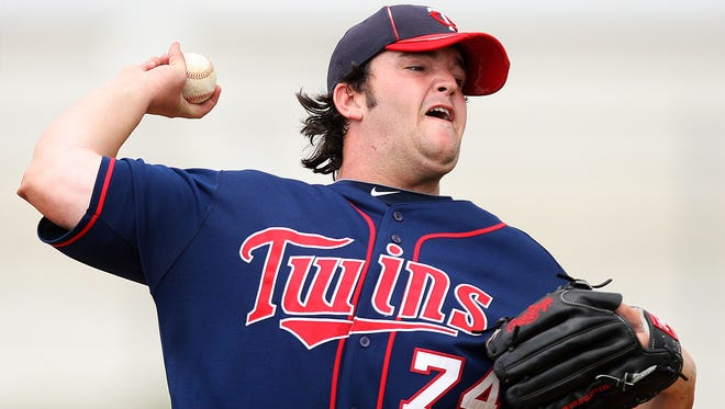 Hudson Boyd pitches in 2012 during a Minnesota Twins minor league spring training game at the Lee County Sports Complex in Fort Myers.