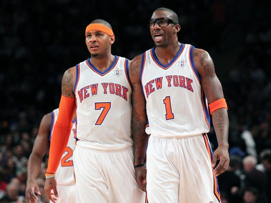 ORG XMIT: USPW-68656 Dec Amare Stoudemire and Carmelo