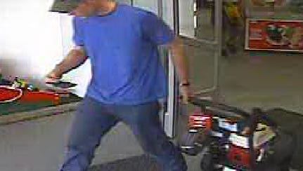 The identity of a man who tool a $600 power washer from a North Fort Myers store is being sought.