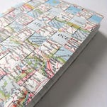 Crafters will use upcycled maps to weave a beautiful cover for a unique travel journal at the June 20 Crafternoon program at the Fond du Lac Public Library. Registration is required and starts at 9 a.m. Saturday, June 6, at fdlpl.org, or by calling (920) 322-3929.