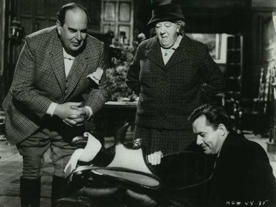 Robert Morley, left to right, Margaret Rutherford and