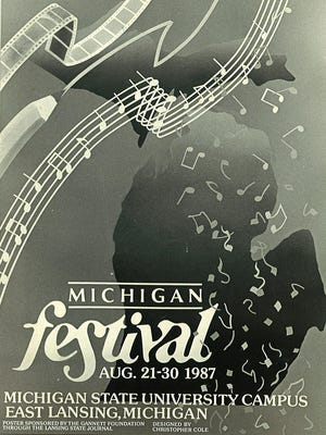 Michigan Festival poster for the inaugural Michigan Fest.