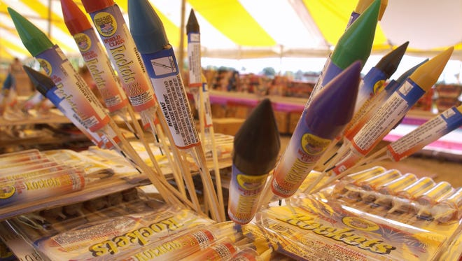 Officials warn those using fireworks legally to be cautious. News-Leader file photo World Class Rockets on sale at Crazy Dave's on North Glenstone.