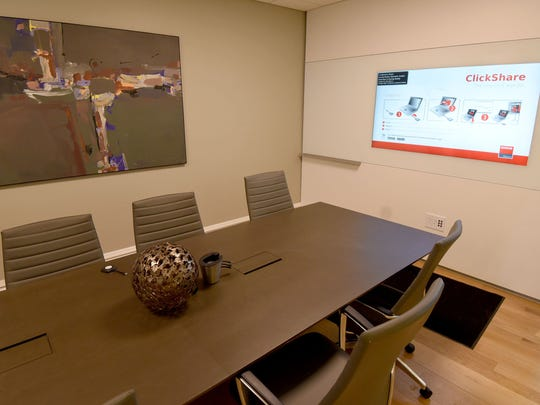 The conference room in the new Haring Realty Welcome