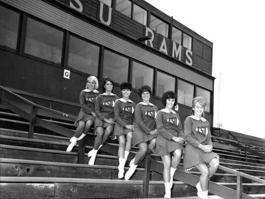 CSU Pepperettes at Colorado Field in 1966.