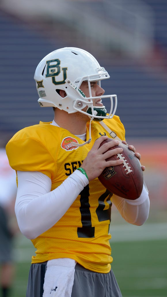 Bryce Petty is competing in the Senior Bowl this weekend.