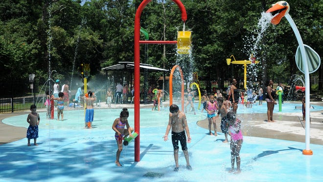 The Splash Pad, as pictured in July, 2013.