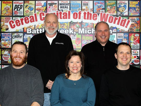 Back Row: Bob Bengtsson, Kellogg Arena's finance director, and Ron Willner, the arena's general manager. Front Row: Director of Operations Jeff Weber, Box Office and Payroll Manager Marilyn Maurer and Jimmy Biggs.