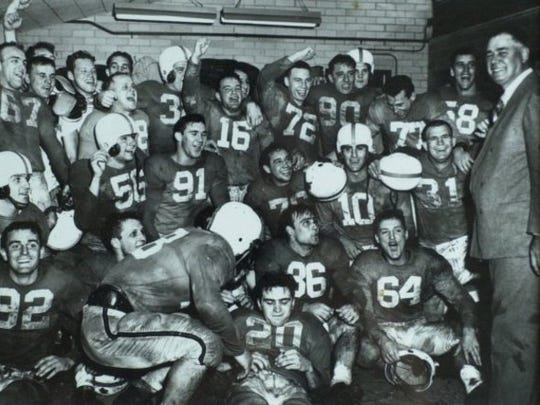 1950 University of Tennessee Volunteers after Cotton Bowl win.