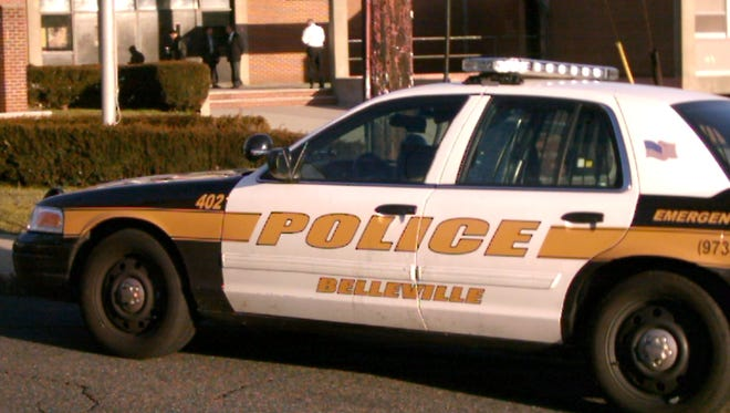 Belleville police went to the high school on Friday.