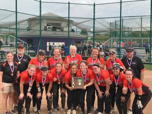 North Union district softball champs