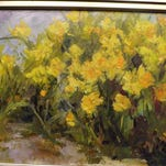 """""""Daffodils"""" is one of the works by Mary Ann Davis on display at Richmond Art Museum."""