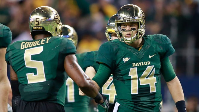 Baylor's Bryce Petty (14) and Antwan Goodley (5) are a tough combination to beat.