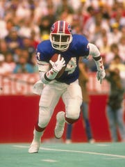 A file photo of running back Thurman Thomas during the 1990 season.
