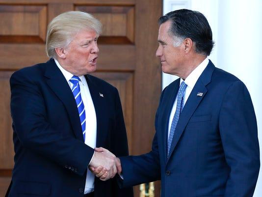 Mitt Romney, Donald Trump
