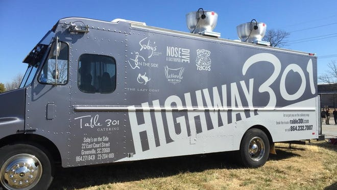 Table 301's food truck, Highway 301, will  be serving lunch in Spartanburg on Thursday.