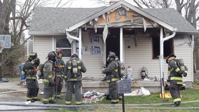Wayne Township Fore Department fire fighters respond to a call on Ida St, Sunday evening.