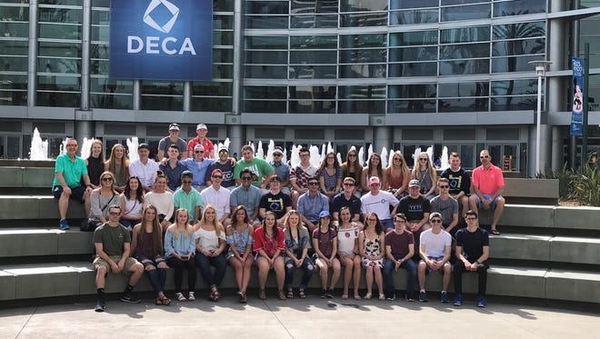 Forty-five Hartland DECA students qualified to compete with 19,000 of the best and brightest marketing students in the world at the 2017 DECA International Career Development Conference in Anaheim, CA, on April 25-29th.