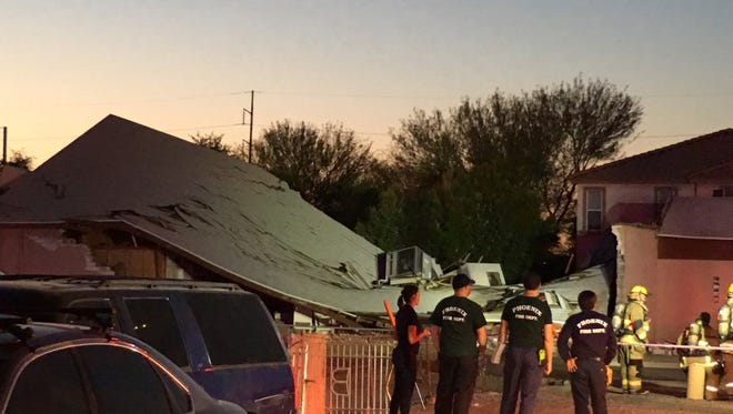 Phoenix Firefighters were at the scene of a church that collapsed after a possible gas explosion.