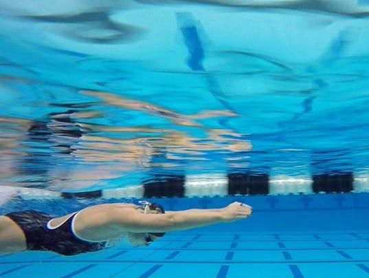 LAF PU swim Emily Fogle