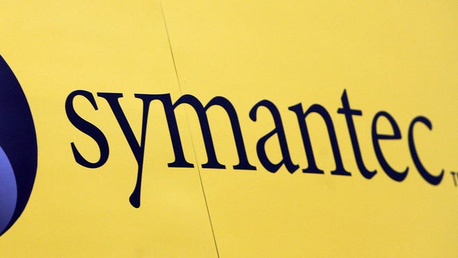 The Symantec logo is pictured at the RSA Conference 2007