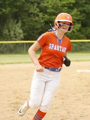Bella Willsey of Thomas A. Edison rounds the bases