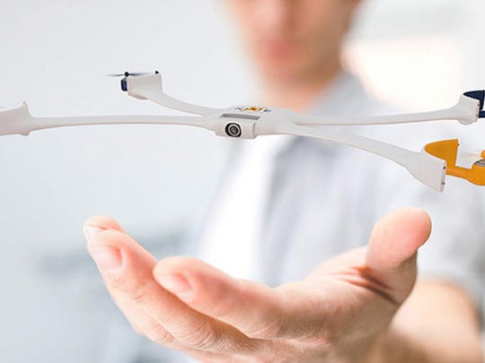 Nixie is a small wearable drone for your wrist that can fly off and snap a photo of you from an aerial view.