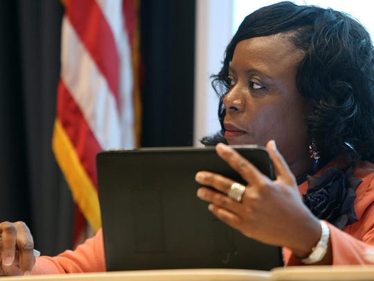 Jackson-Madison County School Board member Janice Hampton at a school board retreat pertaining to Vision 2020 at the McWherter Center on the campus of Jackson State Community College in 2015.