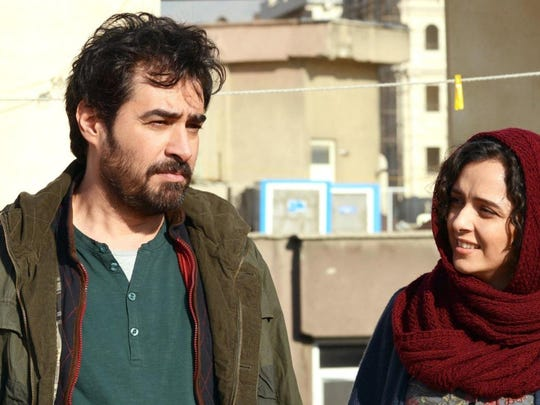 "In ""The Salesman,"" Emad (Shahab Hosseini) and his wife (Taraneh Alidoosti) must quickly find new housing."