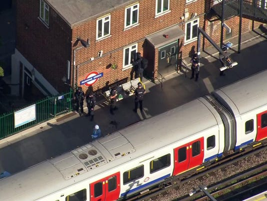 Britain Subway Incident