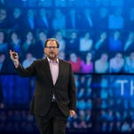 Salesforce CEO Marc Benioff, show here at the company's Dreamforce conference last year, has rallied dozens of tech CEOs to oppose a religious freedom law in Indiana that they feel discriminates against gays and lesbians and hurts recruiting.